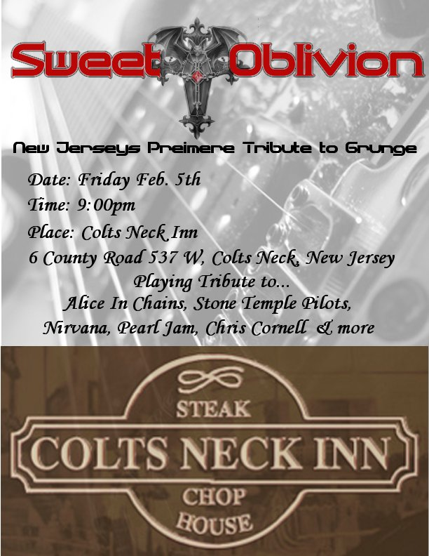 Colts Neck Inn flyer